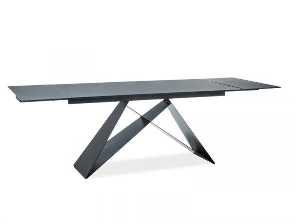 Стол обеденный SIGNAL WESTIN 160 раскладной, черный матовый 160-240/90/76 NEW