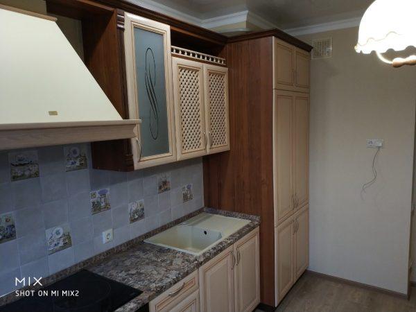 Кухня рамочный МДФ пленка + столешница Кедр